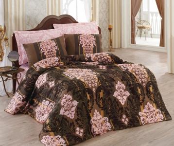 Постельное бельё ТМ Cotton Box Royal Saten Efsun Somon евро-размер