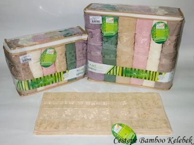 Набор полотенец из 6 штук Cestepe maxisoft Bamboo Kelebek