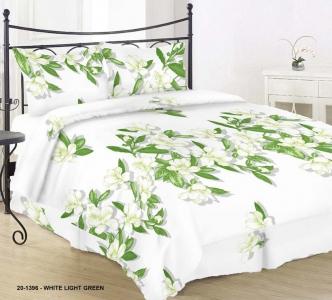 Постельное белье ТМ Nostra бязь Gold 20-1396 White Light Green