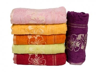 Набор полотенец из хлопка ТМ Gulcan Cotton Mimoza пастельный