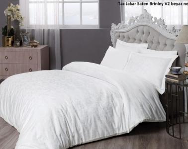 Постельное белье ТМ TAC жаккард Brinley White евро-размер