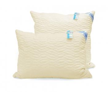 Подушка ТМ Leleka-Textile Эконом стеганный чехол бежевая