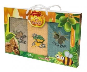 Набор полотенец кухонных ТМ Swan Пчелы 3шт 50х70см