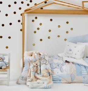 Детский набор из 9 предметов ТМ Karaca Home Honey Bunny Mavi