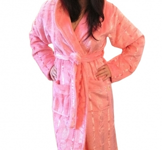 Халат велюровый ТМ Nusa розовый женский (NS 3520) размер ХXL