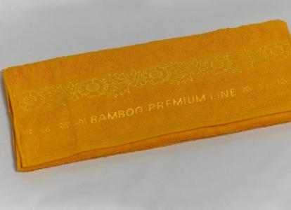 Полотенце бамбук ТМ Arya Ozdilek Premium желтое 50х90