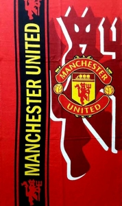 Полотенце велюровое пляжное Турция Manchester United 75х150