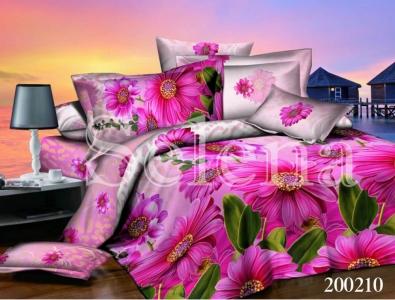 Постельное белье ТМ Selena ранфорс Розовая гербера