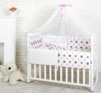 Детский набор из 7 предметов ТМ Маленькая Соня Comfort Пряники розовые