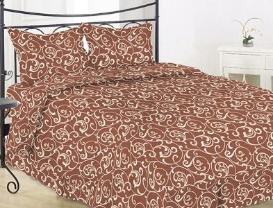 Постельное белье ТМ Novita бязь 40-0456 brown