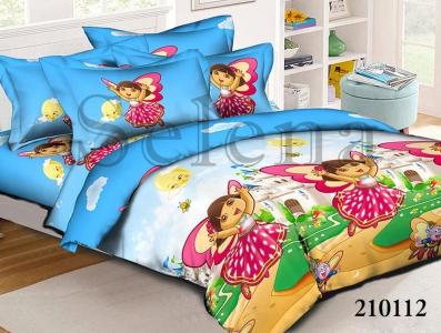 Подростковое постельное белье ТМ Selena ранфорс Даша путешественница