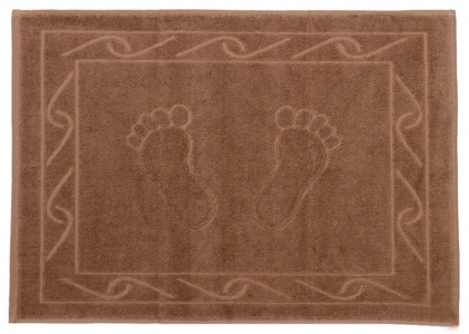 Полотенце для ног ТМ Hobby Hayal коричневое 50х70