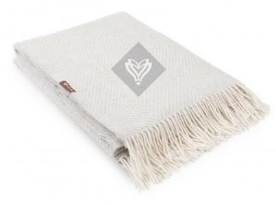 Плед шерстяной ТМ Идея Wool Lille светло-серый 140х200