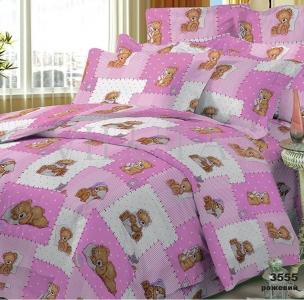 Постельное бельё ТМ Вилюта ранфорс детский (3555) розовый