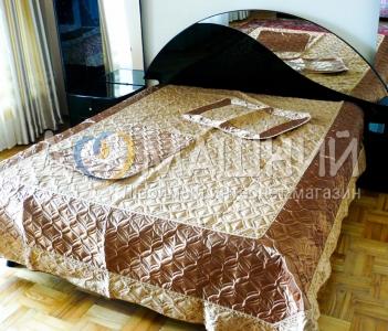 Покрывало ТМ Timonin Евро-жаккард коричневый