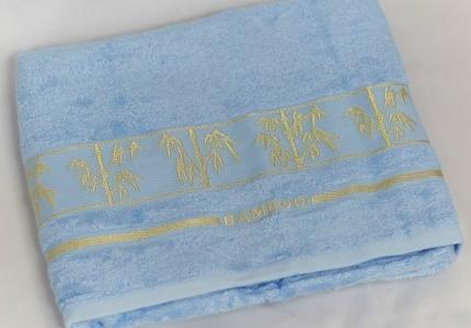 Полотенце ТМ Arya бамбук Bonita светло-голубое 70Х140