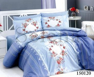 Постельное белье ТМ Selena бязь-light Орнамент цветочный blue 150120