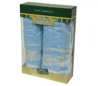 Набор полотенец из 2 штук ТМ Gursan Bamboo blue