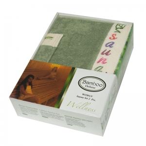 Набор ТМ Gursan для сауны женский 2-х предметный зеленый