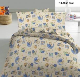Детский постельный комплект ТМ Nostra бязь Gold 10-0059 Blue