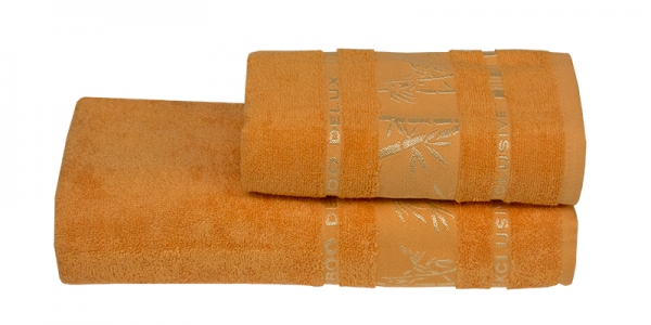 Полотенце ТМ Gursan Bamboo желтое