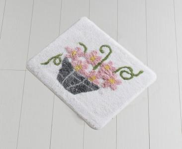 Коврик прорезиненный для ванной ТМ Chilai Home Alacati Pink 50х60