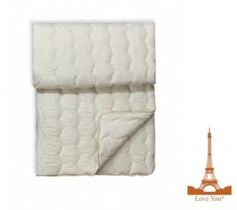 Одеяло шерстяное стеганое ТМ Love you белое