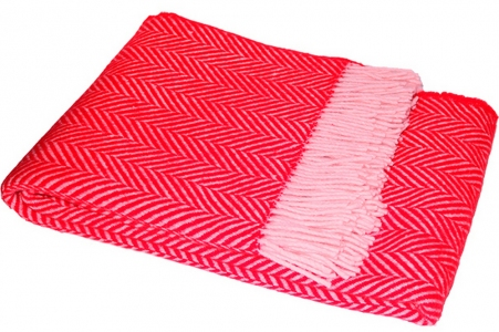 Плед шерстяной ТМ Vladi Флоренция красный 140х200 см