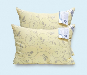 Подушка ТМ Leleka-Textile Экстра жёлтая с узором