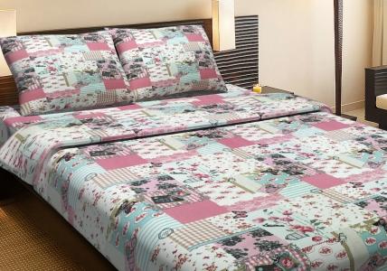 Постельное бельё ранфорс ТМ Lotus Sofi розовый двуспальный размер