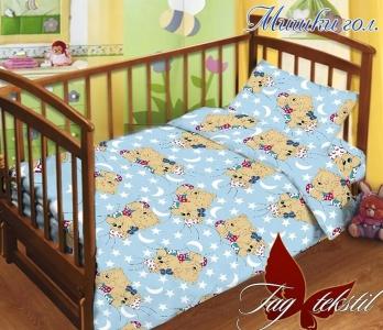 Детский постельный комплект ТМ TAG Мишки голубой