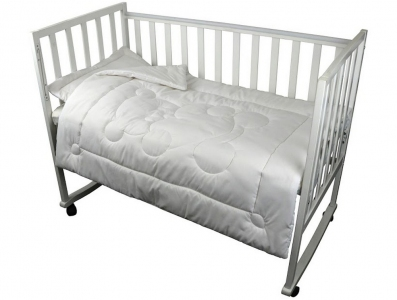 Одеяло детское хлопковое ТМ Руно белое 319.52ХБУ