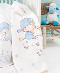 Плед-покрывало ТМ Karaca Home Baby boy детский 100х120