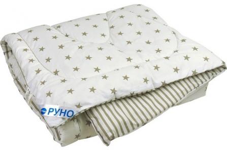 Одеяло детское зимнее шерстяное стеганое ТМ Руно Grey