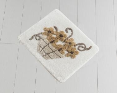 Коврик прорезиненный для ванной ТМ Chilai Home Alacati Brown 50х60