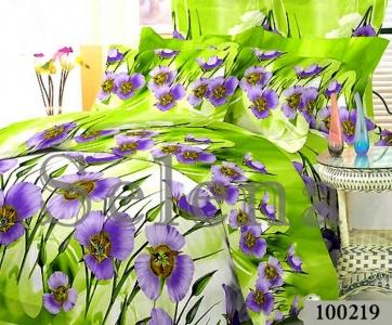 Постельное белье ТМ Selena бязь Цветок зеленый