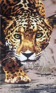 Полотенце велюровое пляжное Турция Леопард 75х150