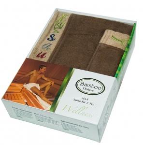 Набор ТМ Gursan для сауны мужской 2-х предметный коричневый