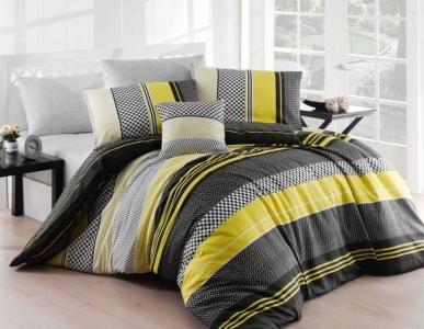Постельное бельё ТМ Eponj Home ранфорс Zigo Sari евро-размер