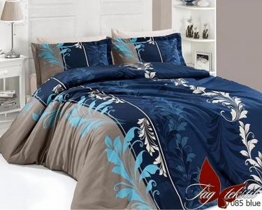 Постельное белье ТМ TAG ранфорс R7085 blue