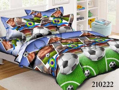 Подростковое постельное белье ТМ Selena ранфорс Футбол 210222