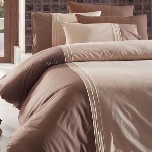 Постельное белье ТМ First Choice De Luxe ранфорс Dlx 04-craze-ekru евро-размер