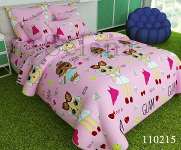 Подростковое постельное белье ТМ Selena бязь Куклы Lol -2 110215