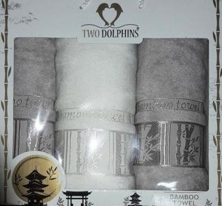 Набор полотенец ТМ Two Dolphins Bamboo towel 3шт grey