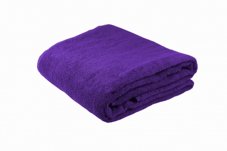 Махровые полотенца ОПТ Узбекистан 400г/м2 размер 40х70см фиолетовое