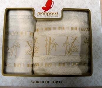 Полотенце ТМ Mariposa Bamboo Gold кремовое 50х90