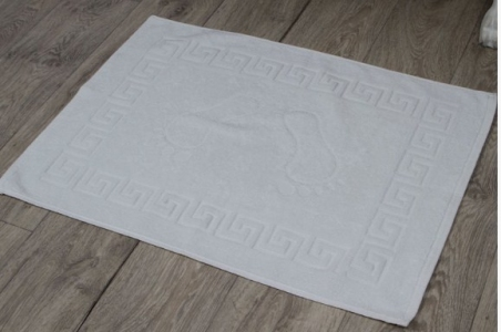 Коврик для ног махровый белый плотность 450 г./м.кв.