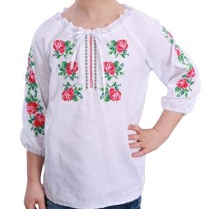 Вышиванка для девочки Розочка нежность 4006