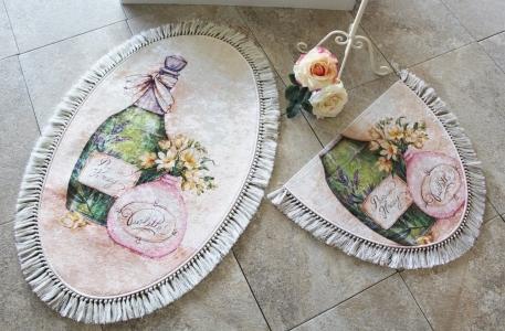 Набор ковриков в ванную комнату ТМ Chilai Home Violeta Oval