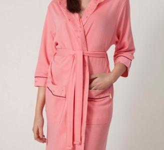 Халат трикотажный бамбуковый ТМ Nusa розовый женский S размер